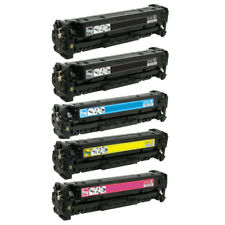 5 Pack Black Color Toner Set for HP CE320A 128A LaserJet Pro CM1415FNW CP1525NW