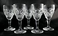 5 Stunning heavy vintage lead crystal glasses - spirit liqueur shot small