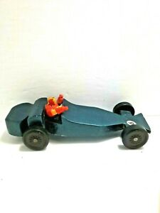 Hand Made Pinewood Derby BSA Car Racer Weighted Fast Wooden Model Race