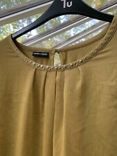 Gerry Weber Size 16 UK Womens Mustard Lined  Blouse