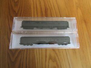 "Micro Trains N, 83' Heavyweight 12-1 Sleepers, Santa Fe ""Red Oak"" & Pullman"
