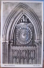 UK RPPC Postcard WELLS CATHEDRAL St Andrew CLOCK Somerset England Kenyon Photo