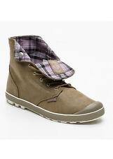 PALLADIUM Sneakers montantes Slim Snaps en cuir suédé taupe et parme T40 NEUF
