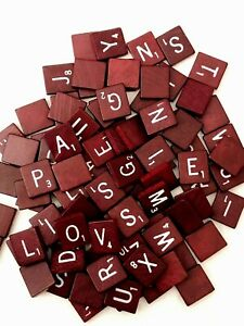 Scrabble Deluxe Turntable Red Maroon Tiles White Letters Game Replacements UPick