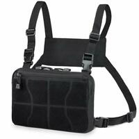 Tactical Combat Chest Pack Molle Tools Bag Concealed Front Pouch Recon Kit Pack