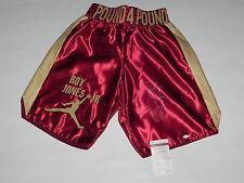 "ROY JONES JR autographed maroon ""Pound 4 Pound"" boxing trunks JSA WP66182"