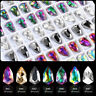 10 Pcs Shiny Shield Crystal Diamond 3d Sharp Bottom Nail Art Rhinestones