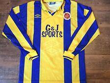 1995 1996 Stenhousemuir L/s Football Shirt Adults Medium Top Jersey Scotland