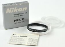 Nikon 52mm Close-Up attachment No. 0 w/  Case & Box