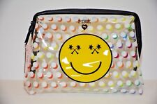 Victoria's Secret PINK Smiley Beauty Cosmetic Make up Clear Beach Bag Pouch NEW