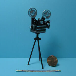 Dollhouse Miniature Antique Movie Camera with Film Strip G7049