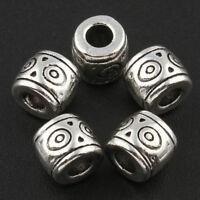 60 Metallperlen Silber 6mm Zwischenteil für Schmuckherstellung MODE F123#3