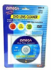 Omega Lettore CD VCD DVD LENTE LASER Liquido Detergente Testa lo sporco pulitore KIT DI RIPRISTINO