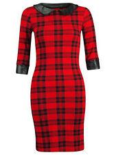 Unbranded Checked Short Sleeve Dresses for Women