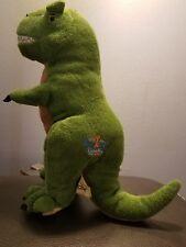"12"" KOOKEYS UNLOCK THE FUN Green PREHISTORIC T-Rex Dinosaur Plush Stuffed Animal"