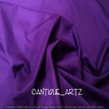 5 Yard Indian Plain Purple Fabric 100% Cotton Light Weight New Sanganeri Fabric