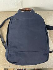 """Day Owl Backpack Daypack Eco-Friendly Smaller 14"""" Laptop Padded Pocket Navy"""