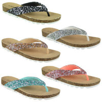 Womens Toe Post Flats Ladies Summer Slip Ons Fashion Chappal Sandals Shoes Size