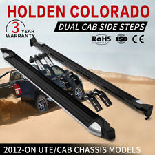 Pair Side Steps Running Boards Suit Holden Colorado Dual Cab 2012-on