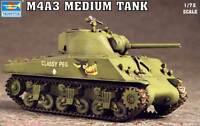 Trumpeter M4A3 Medium Tank Panzer 1:72 modelo equipo de construcción Con clase