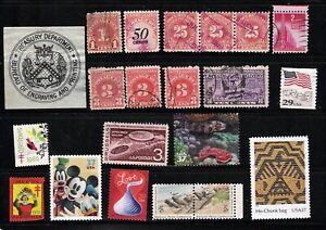 USA 1900 - 92  Treasury, Revenue, Postage Due, Special Delivery, Xmas - 20 Items