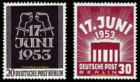 EBS Berlin 1953 Popular Uprising East Germany Volksaufstand Michel 110-111 MNH**