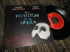 "THE PHANTOM OF THE OPERA OST SARAH BRIGHTMAN+STEVE HARLEY/+2 7"" 1987 SPAIN"