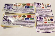 8x Free Merlin Ticket Voucher Coupon Chessington Alton Thorpe Valid 07/20 2 for1