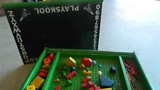 Amazing Playskool Ding Dong Chalk Board & Pegboard Set! Rare LOTS of Pieces!