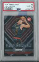 2018-19 Panini Prizm Trae Young Emergent  Rookie RC #5 PSA 10 GEM MINT