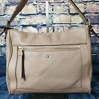 Kate Spade New York Taupe Pebbled Leather Convertible Crossbody Shoulder Bag
