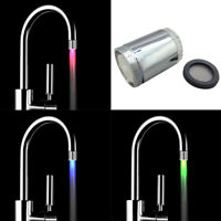 Temperature Sensor 3/7 Color Kitchen Water Tap Faucet RGB Glow Shower LED Light