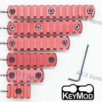 Red 3/5/7/9/11/13 Slot Picatinny Weaver Rail Section Segment Mount Fit Keymod