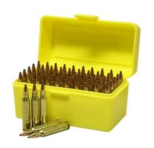 NEW Plastic Rifle Ammunition Box - 50rnd Capacity - 204, 222, 223 Ammo Storage