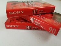 Sony Hi-Fi 90 min record and playback Cassette Tapes (FACTORY SEALED)