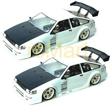 COLT 200mm AE86 LEVIN Clear Body x 2pcs Combo RC Cars Touring On Road #M2320 x2