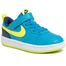 Scarpe Ragazzi Nike Court Borough Low Blu Giallo Sneaker Estate Comoda Leggera