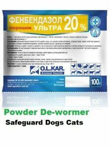 Fenbendazol Ultra 20% Pet Wormer Dewormer Broad Powder Panacur Safe Guard Dog