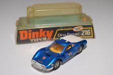DINKY TOYS 216 FERRARI DINO METALLIC BLUE NEAR MINT BOXED RARE SELTEN RARO