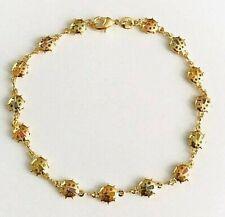 """/ Tobillera de Mariquita 10"""" - Br203 18k gold filled Ladybug crystal anklet 10"""""""