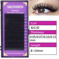 B C D Curl False Eyelashes Individual Lashes Eyelashes Extension Faux Mink Hair