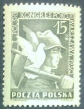 POLAND STAMPS MNH Fi529 Sc486 Mi564 - Congress of peace, 1950, clean