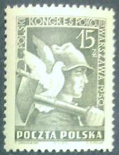 POLAND STAMPS MNH 1Fi529 Sc486 Mi564 - Congress of peace, 1950, **, SLANIA