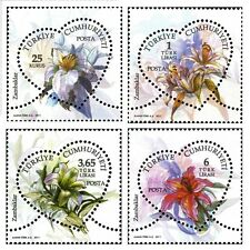 TURKEY 2011, DEFINITIVE POSTAGE STAMPS WITH THEME OF FLOWERS, LILIES, MNH