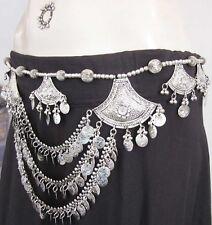 Kuchi Coin BELT Tribal Belly Dance Ats Skirt Pant Wais Hip Scarf Costume Jewelry