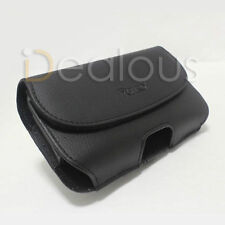 For HTC One / HTC M7  LEATHER POUCH CASE BELT CLIP - FIT OTTERBOX CASE ON