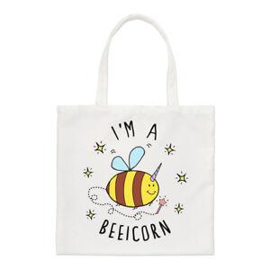 I'm A Beeicorn Regular Tote Bag Bumble Bee Unicorn Funny Shoulder