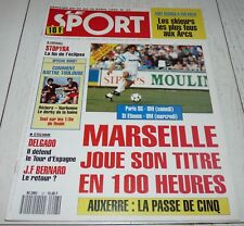 LE SPORT 27 1990 FOOTBALL MARSEILLE OM VATA BENFICA MONACO SAMPDORIA RUGBY MOTO