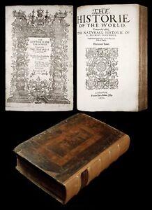1601 PLINY NATURAL HISTORY 1ST ENGLISH Science Medicine PLANTS ANIMALS Minerals
