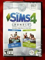 The Sims 4 Bundle Spa Day & Perfect Patio Stuff Expansion Pack Win/Mac 2015 New